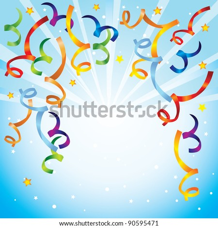 bright background with confetti - vector illustration