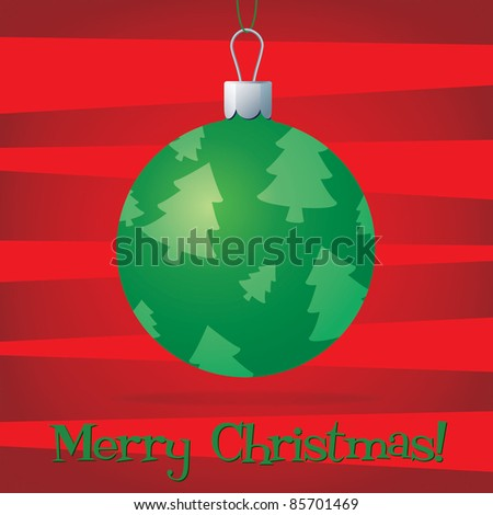 Bright bauble fun Christmas card in vector format.