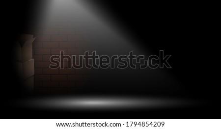 bright beam illuminates dark