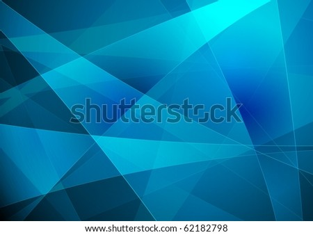 Bright blue abstraction - vector eps 10
