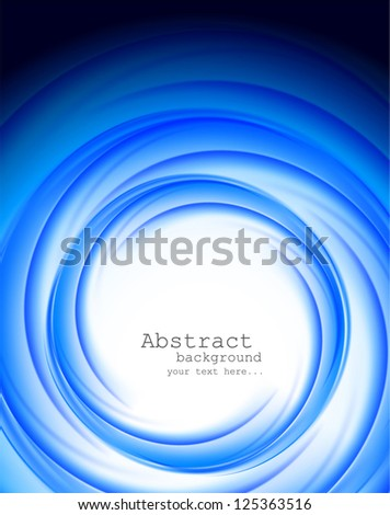 Bright blue background. Abstract illustration