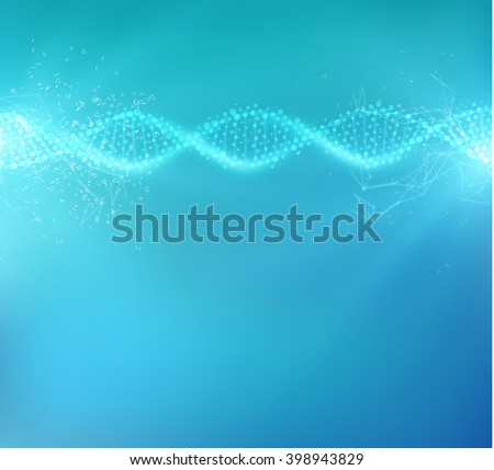 bright blue science background