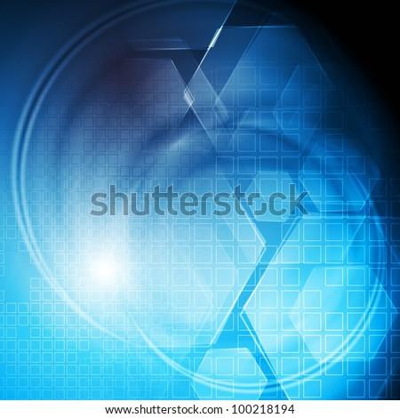Bright blue vector design. Eps 10