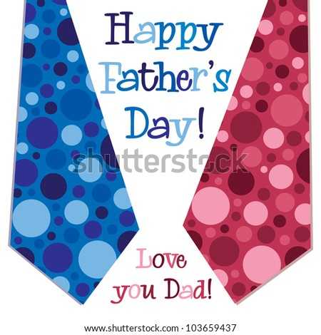 Bright bubble tie 'Happy Father's Day' neck tie card in vector format.