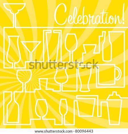 Bright Celebration Card in vector format.