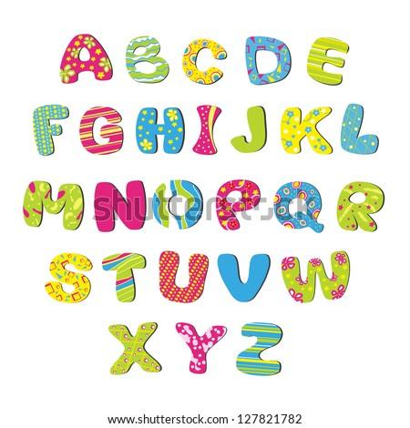 Bright children's alphabet