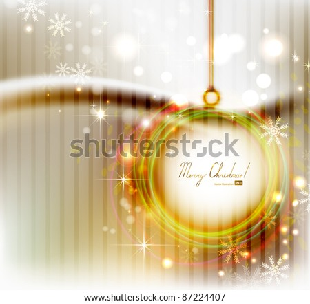 Bright   Christmas background with abstract evening ball - stock vector