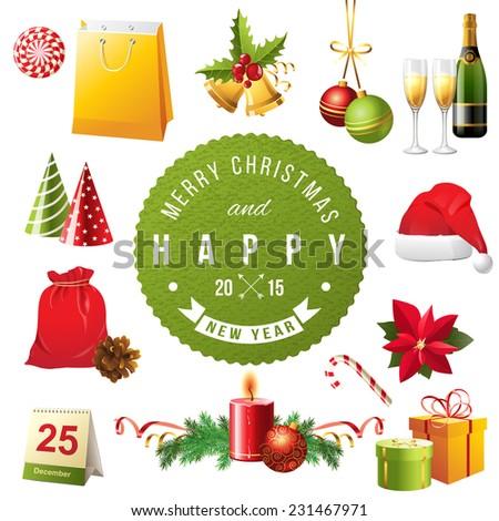 bright christmas design
