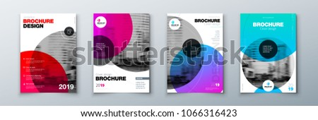 bright circle brochure cover