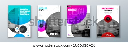 bright circle brochure cover