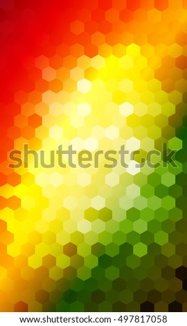 bright color background. hexagon pattern for disco illustration. vector