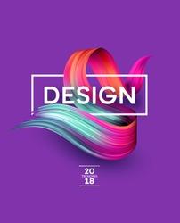Bright Color Paint Stains for Modern Poster. Tranding design. Vector illustration EPS10