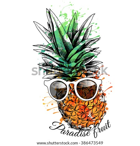 bright color pineapple in a
