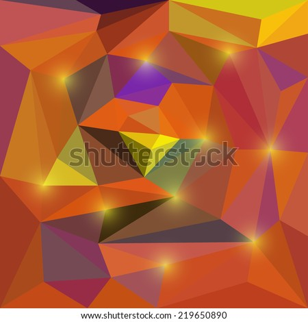 Bright colored mixed abstract vector geometric background