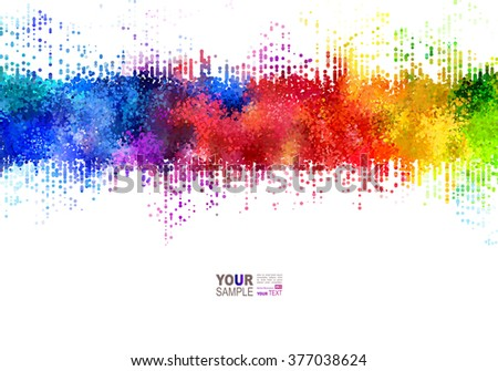 bright colored strip rainbow