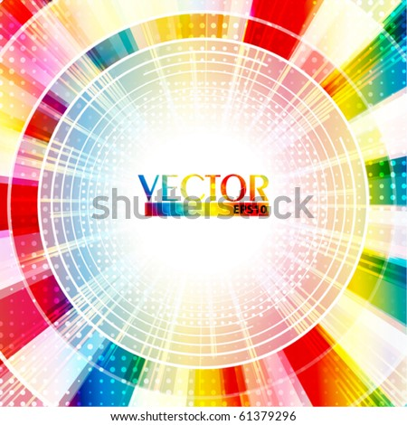 Bright colorful disc.Vector