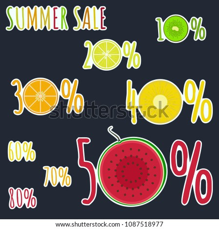 bright colorful fruity summer