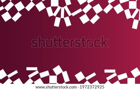 Bright, colorful geometric background, vector illustration, ribbons with geometric pattern