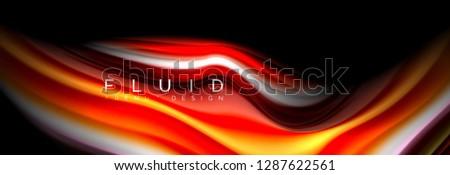 bright colorful liquid fluid