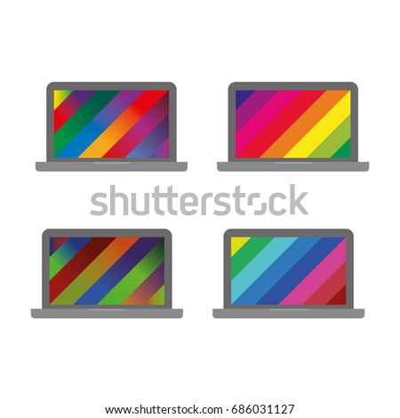 bright colorful rainbow screen