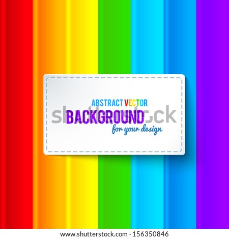 bright colorful rainbow stripes