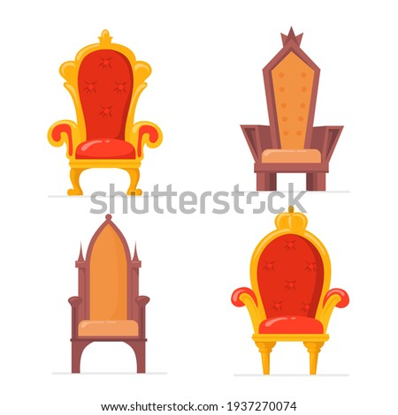 bright colorful royal armchairs