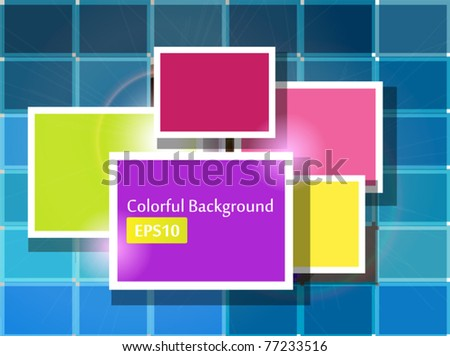 Bright colorful squares background