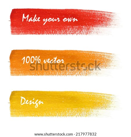 Bright colorful stains set