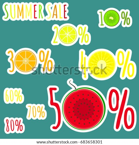 bright colorful summer sale