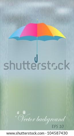 bright colorful umbrella