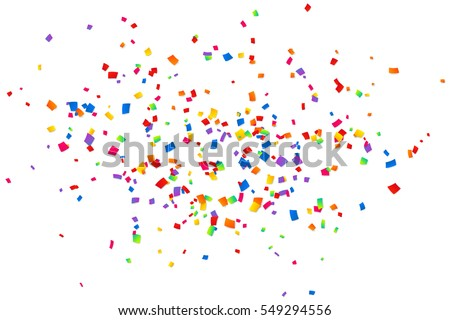 Bright colorful vector confetti isolated on white background