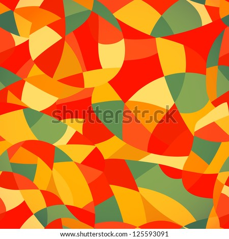 Geometric Round Window Stained Glass Pattern |