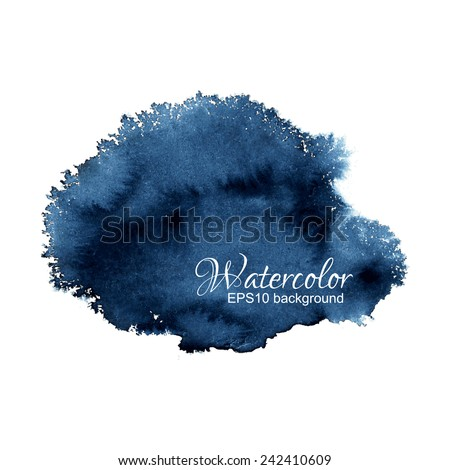 bright dark blue watercolor