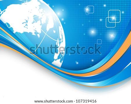 bright digital universe vector concept with copy space. Eps10