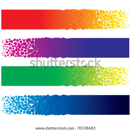 Bright Digital Web Banners, Cool Abstract vector Header for your text or design
