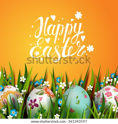 bright easter card template