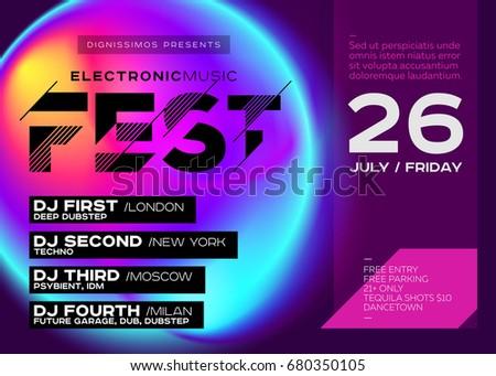 bright festival poster