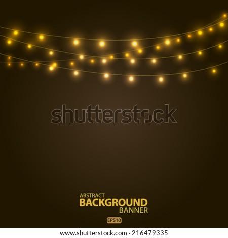 bright garlands  vector eps 10