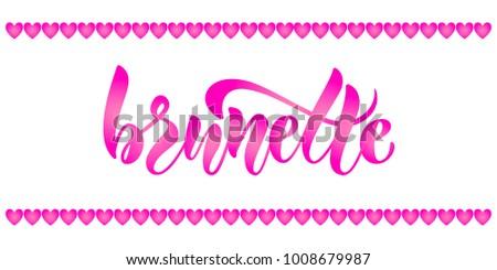 bright girlie lettering