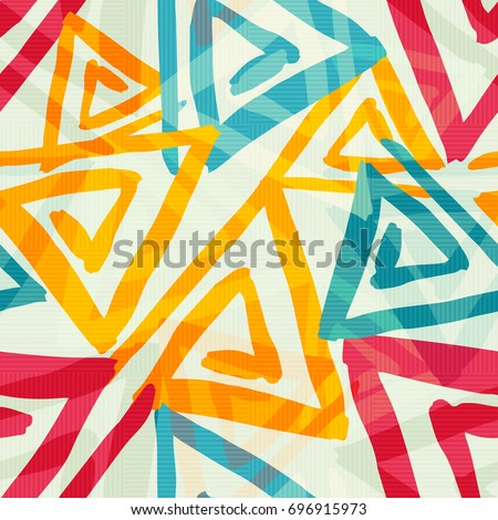bright graffiti geometric