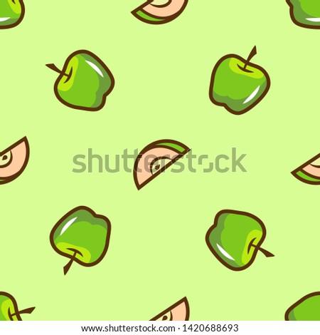 bright green apple seamless