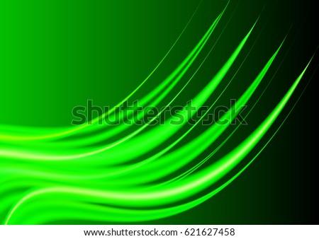 bright green vector waves