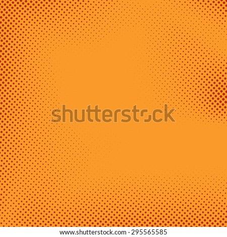 Bright halftone comic book style background polka dot retro pattern. Vector illustration