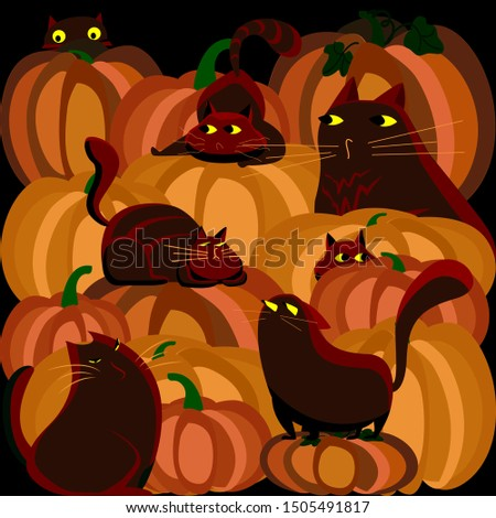 bright halloween greeting card