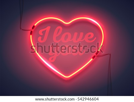 bright heart neon sign i love