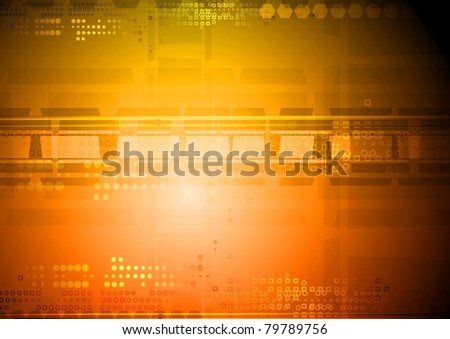 Bright hi-tech background. Eps 10 vector illustration - stock vector
