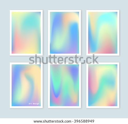 bright holographic backgrounds