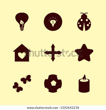 bright icon bright vector