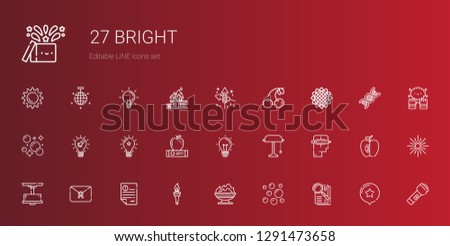 bright icons set collection of