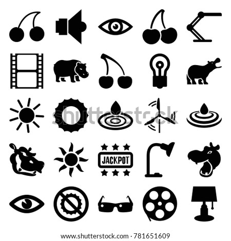 bright icons set of 25